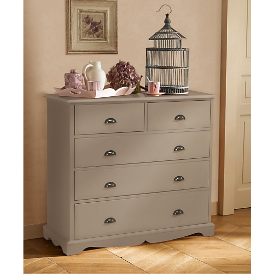 Salle de bain scandinave - Commode couleur taupe ...