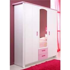 Armoire 3 portes Candice rose