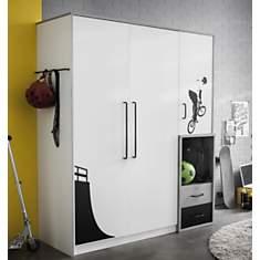 Armoire 3 portes 2 tiroirs Davenport