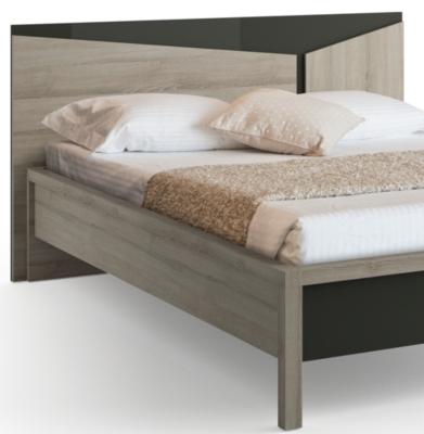 t te de lit delphy gris literie en ligne. Black Bedroom Furniture Sets. Home Design Ideas
