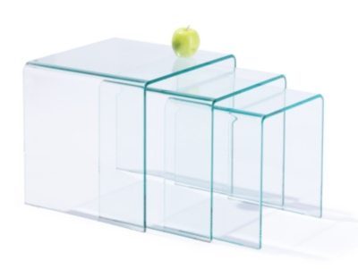 Tables gigognes Eco en verre pour 249€