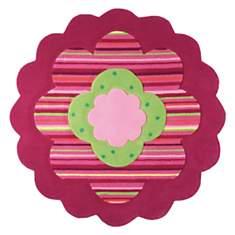 Tapis ESPRIT HOME Fleur rose