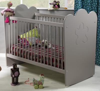 Lit bébé Silène gris à barreaux pour 365€