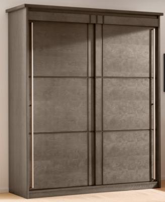 Armoire 2 portes coulissantes Mareva grise pour 1599€