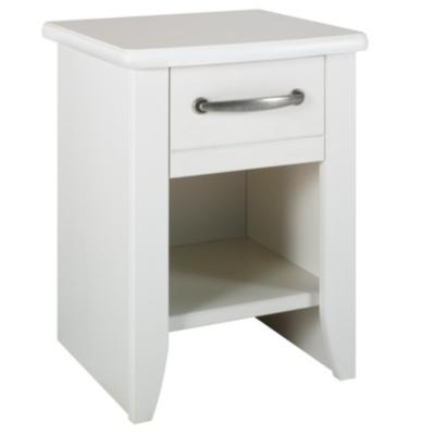chevet 1 tiroir mathilda blanchi literie en ligne. Black Bedroom Furniture Sets. Home Design Ideas