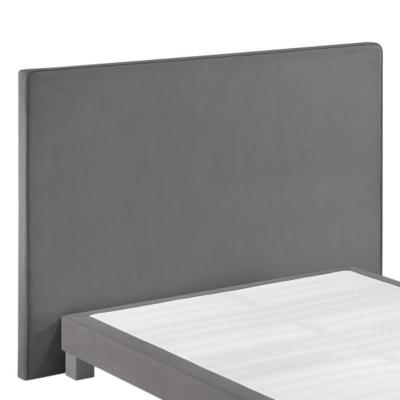 Tête de lit Melty MERINOS. Dosseret à associer avec les sommiers déco MERINOS. - Largeur: 150 cm. - Hauteur: 120 cm. - Epaisseur: