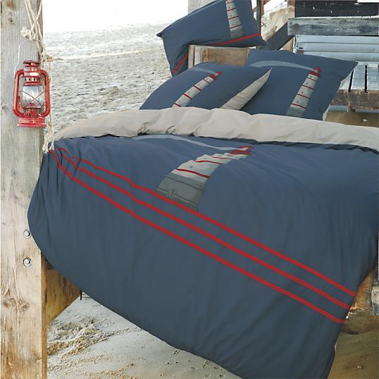 housse de couette percale une nuit en mer sylvie thiriez. Black Bedroom Furniture Sets. Home Design Ideas