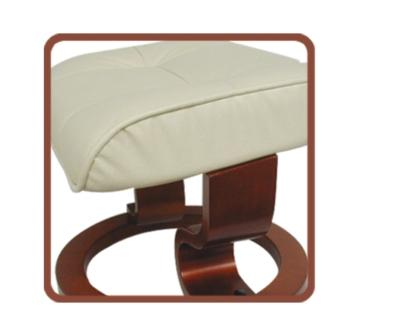 Fauteuil de relaxation cuir cama eu for Repose pieds de salon