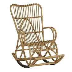 Rocking chair rotin Seventies KOK