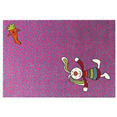 Tapis Rainbow Rabbit SIGIKID, rose