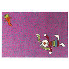 Tapis Rainbow Rabbit SIGIKID, rose