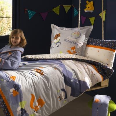 catimini housse de couette sur les pistes 140 x 200 cm catgorie taies doreillers bbs. Black Bedroom Furniture Sets. Home Design Ideas