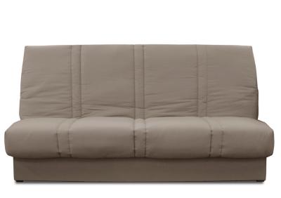 banquette clic clac vanille matelas 11cm literie en ligne. Black Bedroom Furniture Sets. Home Design Ideas