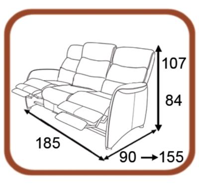 canap de relaxation microfibre cin ma. Black Bedroom Furniture Sets. Home Design Ideas