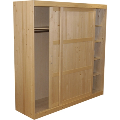 Grande armoire 2 portes Zen, vernis natu rel pour 589€