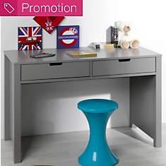 Bureau 2 tiroirs Saké gris