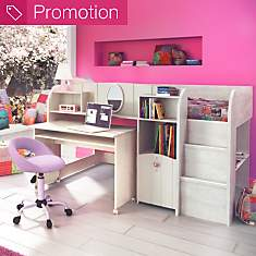 Lit surélevé + siège de bureau Arielle...