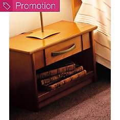 Chevet 1 niche 1 tiroir Monika merisier