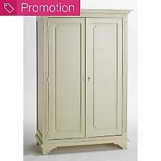 Armoire 2 portes Romance blanc