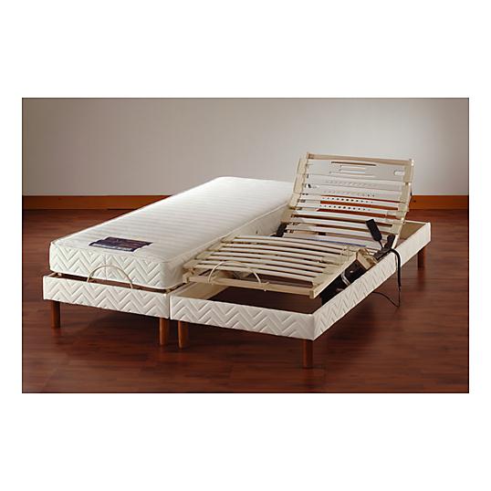 Sommier de relaxation lectrique 14 cm 2 x 80 x 200 cm - Sommier double electrique ...