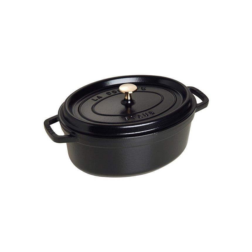 Cocotte ovale STAUB diam 29 cm noir