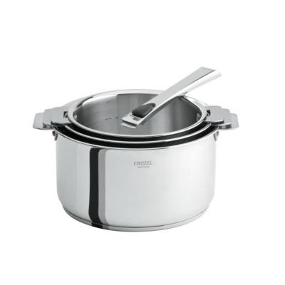 3 casseroles CRISTEL Casteline 16 à 20cm  avec poignée inox