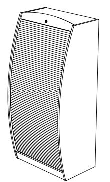 Meuble multimédia Solo 80 cm, merisier