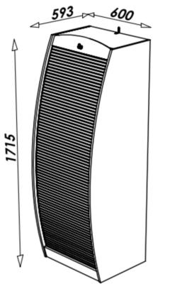 Meuble multimédia Solo 60 cm, merisier