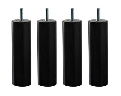 Lot de 4 pieds cylindre wengé, 15 cm