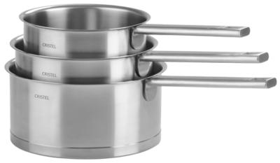 Série de 3 casseroles CRISTEL Strate  Fixe