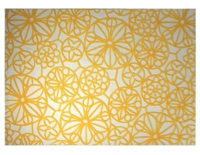 Tapis society circle esprit home jaune - Tapis camif ...