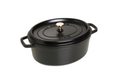 Cocotte ovale STAUB 31 cm noir