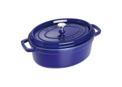 Cocotte  ovale STAUB 29 cm bleu intense