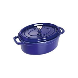 Cocotte  ovale STAUB 31 cm bleu intense