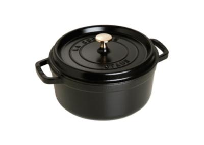 Cocotte ronde STAUB 20 cm noir