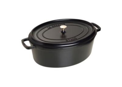 Cocotte ovale STAUB 41 cm noire