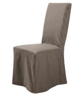 Housse universelle de chaise Noémie  TUTTI TEMPO, taupe