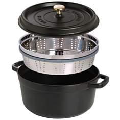 Cocotte  ronde STAUB avec cuit vapeur  2...