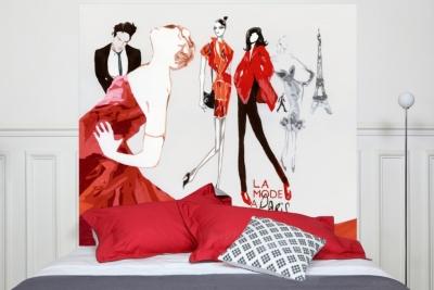 Tête de lit La Mode à Paris MADEMOISELLE  TISS
