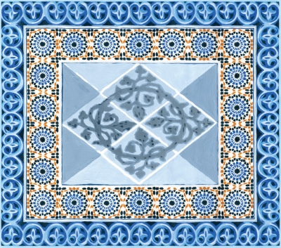 Tête de lit Mosaïques MADEMOISELLE TISS