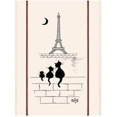 Grand torchon Chats Tour Eiffel TORCHONS...
