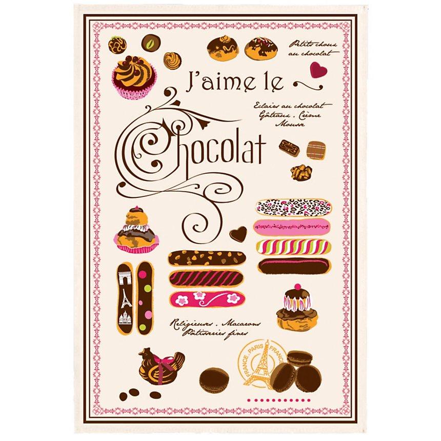 Torchon J'aime le Chocolat TORCHONS &  BOUCHONS