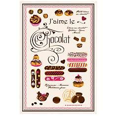 Torchon J'aime le Chocolat TORCHONS &amp...