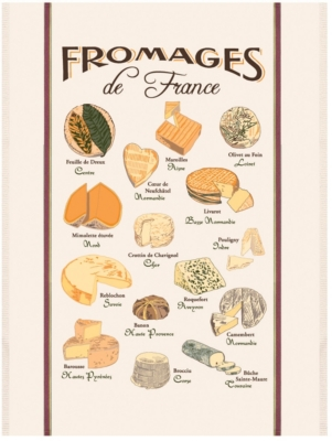 Grand torchon Fromages de France