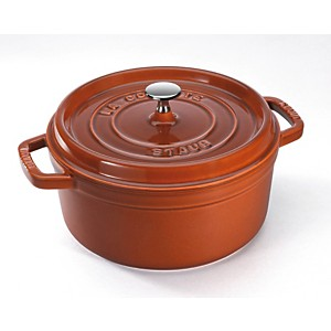 Cocotte  ronde STAUB 28 cm canne...