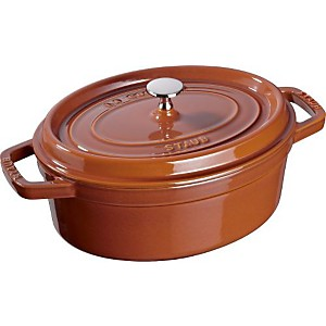 Cocotte ovale STAUB 31 cm cannelle
