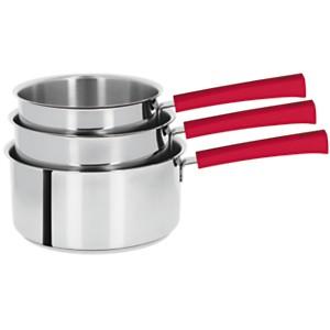 Set 3 casseroles CRISTEL Mutine poignée  framboise