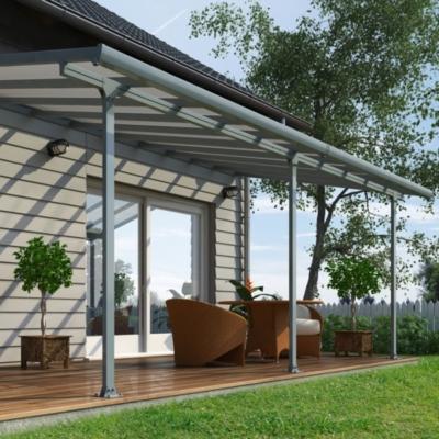 abri de terrasse 3 x 6 m gris chalet et jardin. Black Bedroom Furniture Sets. Home Design Ideas