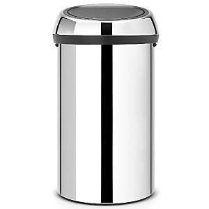 Poubelle 60 L BRABANTIA Brillant Steel - Touch Bin