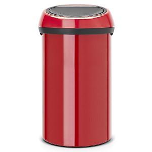 Poubelle 60 L BRABANTIA Passion Red - Touch Bin